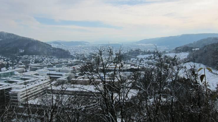 Baden in Schnee