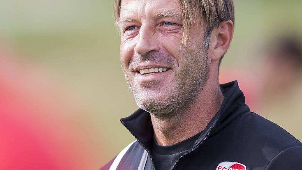 Nach dem Match gegen die Litauer will Paolo Tramezzani wieder lachen können