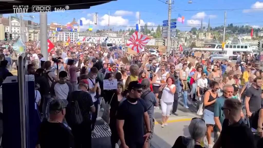 1'500 Massnahmengegner unbewilligt in Luzern – 60 Wegweisungen