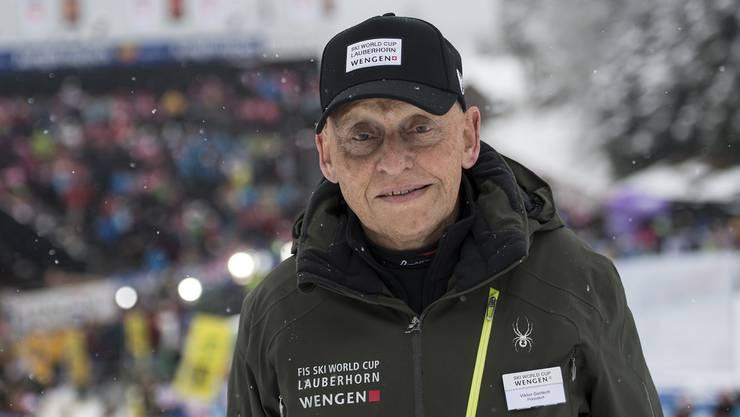 Viktor Gertsch am «seinem» Lauberhornrennen im Jahr 2014