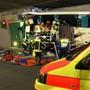 Die Unfallstelle nach dem tödlichen Busunfall bei Siders (Archiv)