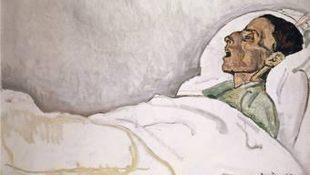 Ferdinand Hodler: Die Sterbende, 1915, Öl auf Leinwand, 60.1 x 90.3 cm, Ankauf 1942 mit einem Beitrag aus dem Birmann-Fonds.