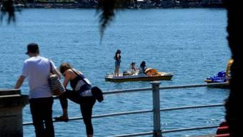 Badewetter in Locarno: Mit 32,7 Grad wurde am Samstag die Jahreshöchsttemperatur erreicht. (Archivbild)