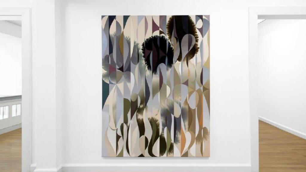 Ein Werk von Giacomo Santiago Rogado in einer Ausstellung im deutschen Delmenhorst.