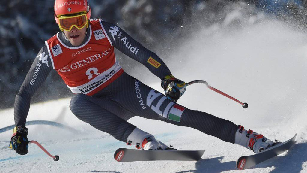 Christof Innerhofer fuhr im Super-G in Kitzbühel trotz Bruch im linken Wadenbein auf Platz 2