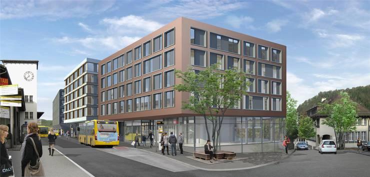 Durch die beiden neuen Gebäude wird der Platz deutlich kleiner.