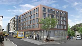 So wird der Bahnhofplatz in Liestal aussehen