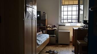Blick in die Zelle eines Häftlings in der Strafanstalt Pöschwies in Regensdorf