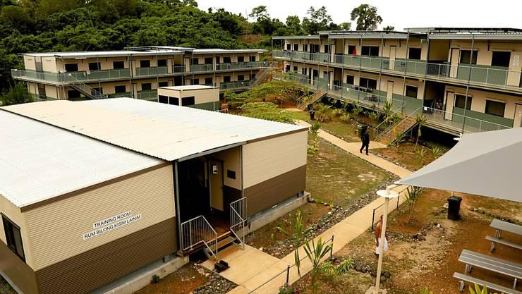 Eines der umstrittenen australischen Flüchtlingslager auf der Pazifikinsel Manus. (Archiv)