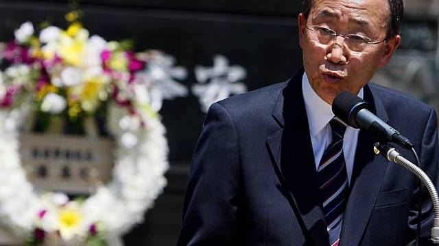 Ban Ki Moon spricht in Nagasaki