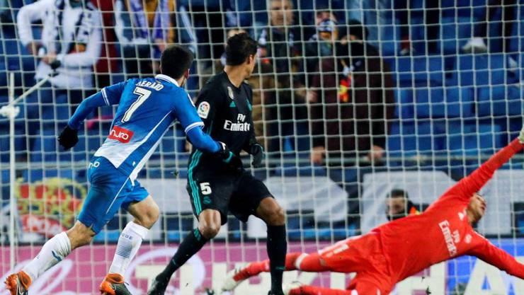 Gerard Moreno entschied mit einem Aufsetzer die Partie zwischen Espanyol und Real Madrid