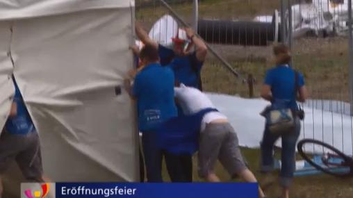 Eröffnungsfeier des Eidgenössischen Turnfestes wegen Sturms abgesagt