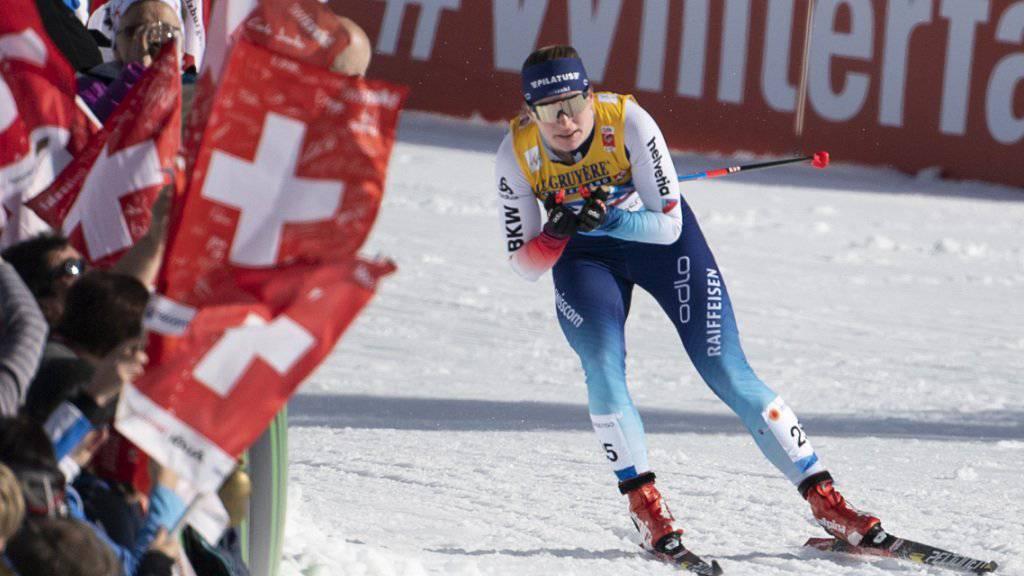 Machte den Schweizer Fans im 10-km-Lauf mit Einzelstart viel Freude: Nadine Fähndrich lief auf den tollen 5. Platz