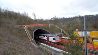 Adlertunnel: Er dürfte auf längere Zeit der letzte SBB-Tunnel in der Nordwestschweiz bleiben. Die SBB wollen ihre Kapazitätsprobleme ohne den Wisenbergtunnel lösen. (Martin Töngi)