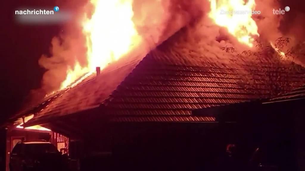 Bauernhaus brennt in Vordemwald komplett nieder