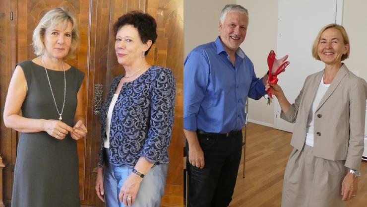 Brigit Wyss hat ihren Schlüssel von Esther Gassler erhalten. Peter Gomm übergibt seinen Susanne Schaffner.