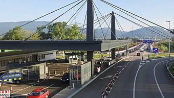 Grenzübergang in Rheinfelden (Aargau)