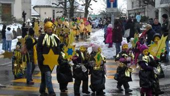 Farbenfroher Kinderumzug in Grenchen