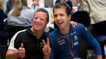 Auch bei den Special Olympics für geistig Behinderte engagiert sich Simon Ammann regelmässig.