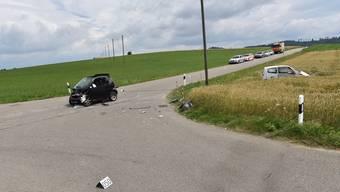 An dieser Kreuzung in Wiesendangen geschah der Unfall.