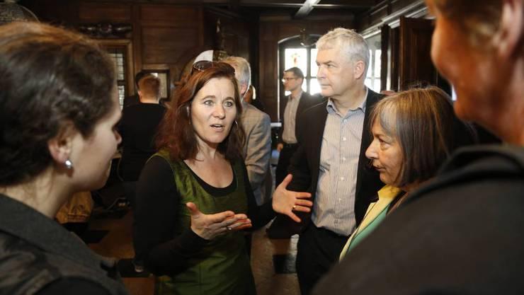 SP-Präsidentin Franziska Roth und Felix Wettstein, Co-Präsident der Grünen