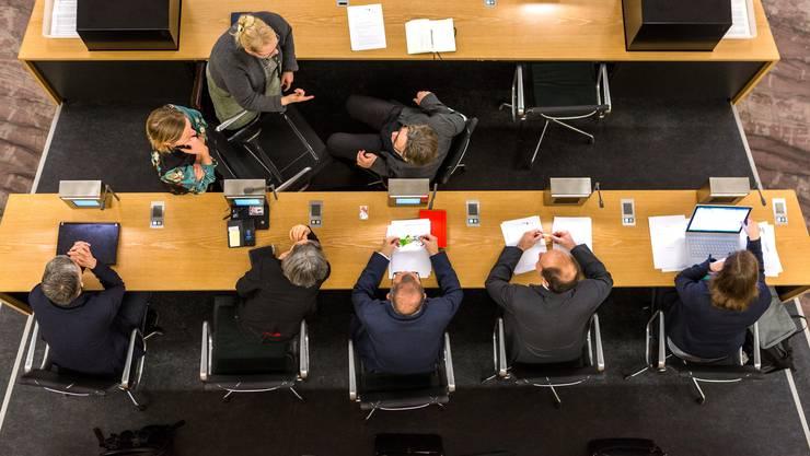 Einwohnerratssitzung des Einwohnerrats Aarau vom 22. Januar 2018 im Grossratssaal in Aarau.