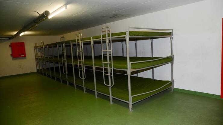Zivilschutzanlage Grüngen: Hier sind seit Juli Asylbewerber untergebracht. (Archiv)