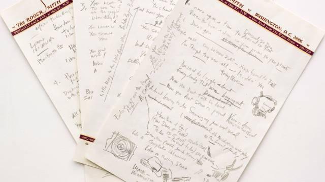 "Wertvolles Gekritzel: Dylans Textentwurf für ""Like a Rolling Stone"""