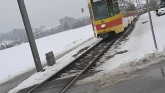Ausbau: Das Tramtrasse soll zwischen Ettingen und Flüh zweispurig werden. (Toe)