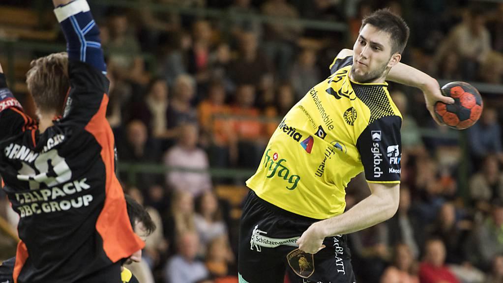 St.Otmars Dominik Jurilj erzielte elf Tore. (Archivbild)