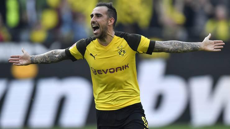 Er trifft und trifft und trifft – Paco Alcácer fühlt sich in Dortmund offenbar pudelwohl.