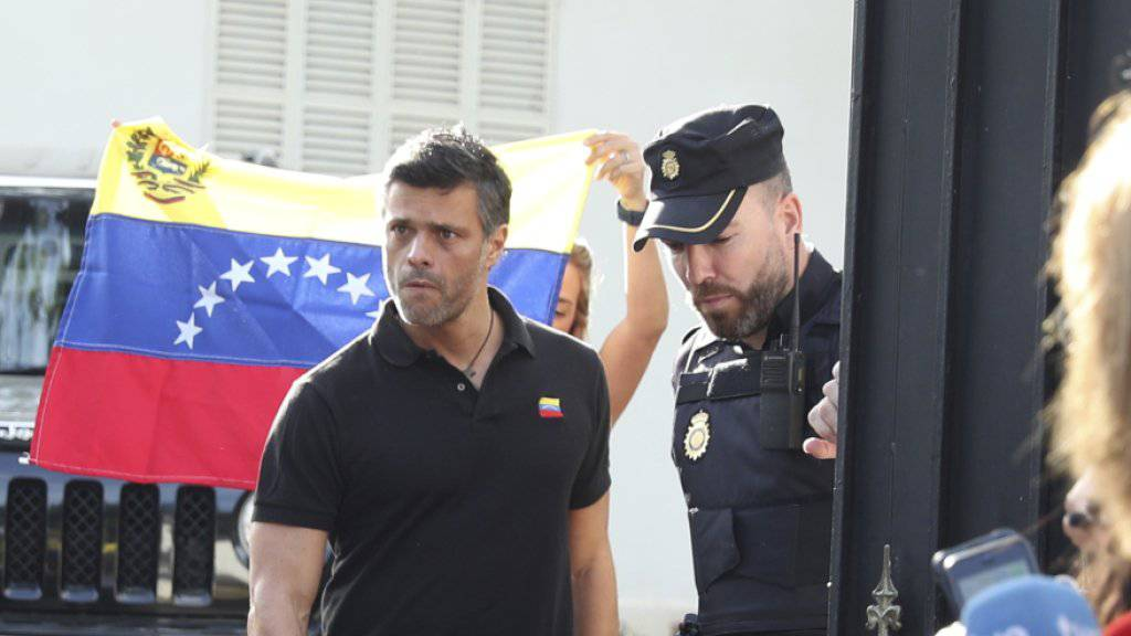 Flüchtete in die spanische Botschaft in Caracas: der venezolanische Oppositionsführer Leopoldo López.