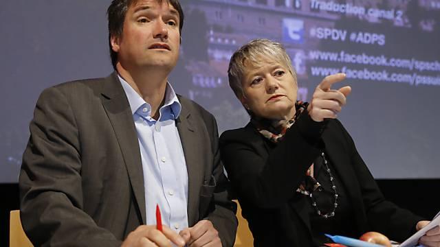 Christian Levrat und Jacqueline Fehr bei der SP-DV in Bern