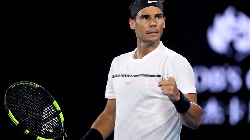 Rafael Nadal feiert den Einzug ins Final.