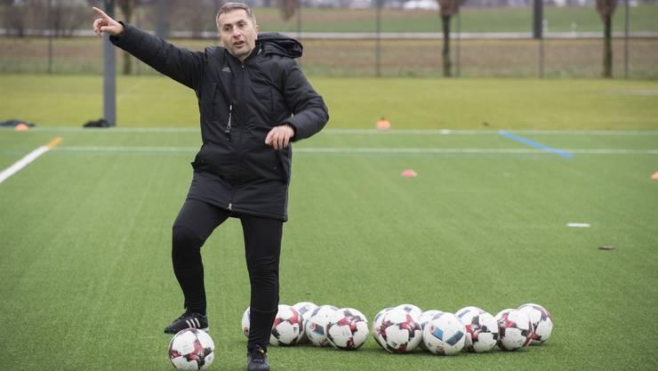 Trainer Ranko Jakovljevic dirigiert erfolgreich: Der FC Baden spielte eine überzeugende Hinrunde.