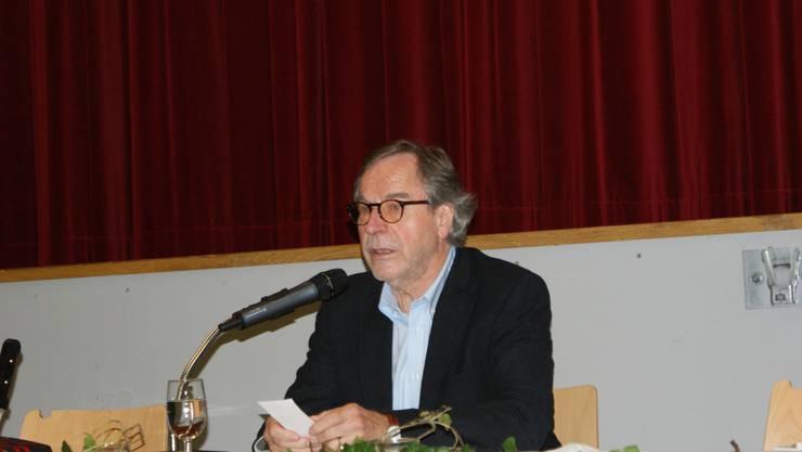 -Klaus Merz bei seiner Lesung
