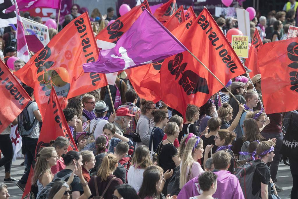 Lohngleichheit-Demo (© Keystone)