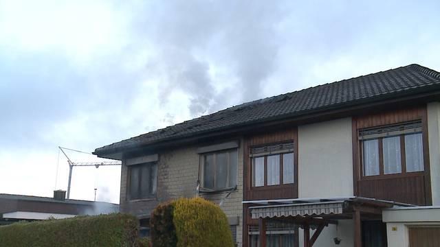 Brand in Doppeleinfamilienhaus