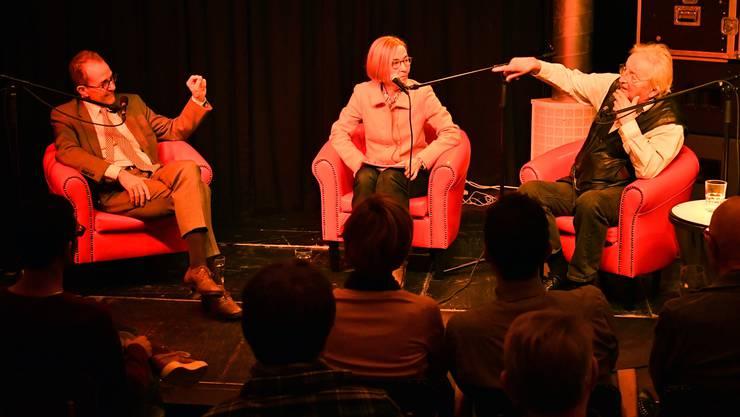 Susanne Schaffner traf in der Oltner Vario-Bar auf Schriftsteller Peter Bichsel und Nationalrat Tim Guldimann.