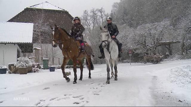 Anwohner freuen sich über Schnee