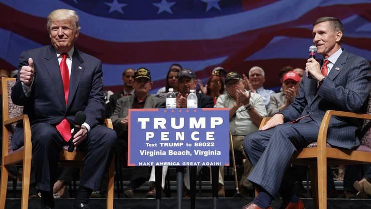 US-Präsident Donald Trump und sein ehemaliger «Nationaler Sicherheitsberater» Michael Flynn.