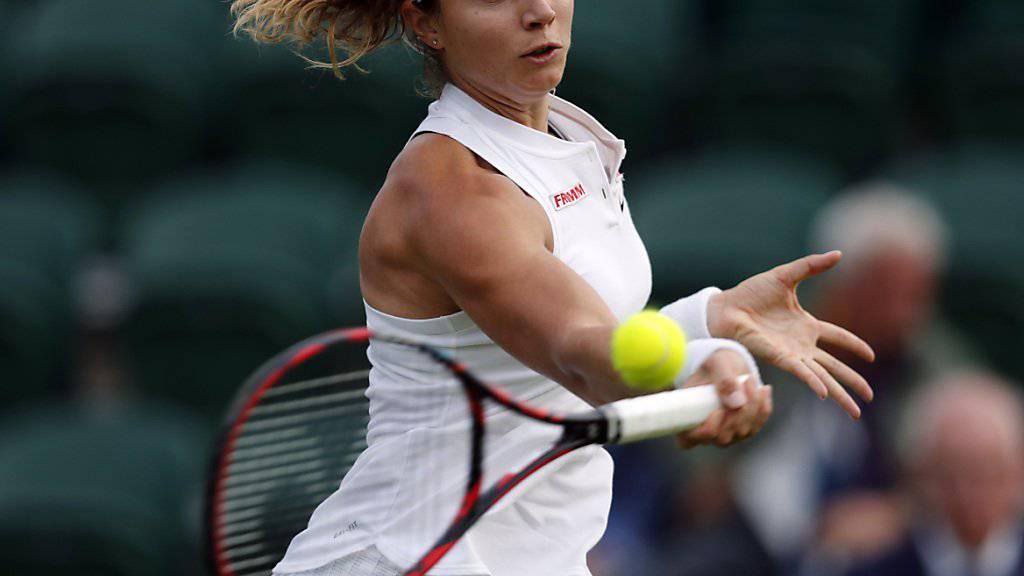 Stefanie Vögele wird ihrer Favoritenrolle gegen Amra Sadikovic gerecht