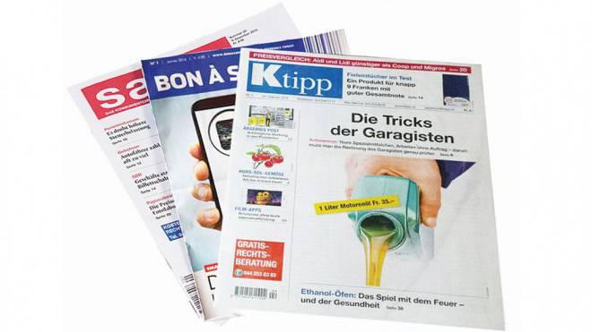 Grosse Reichweite: «K-Tipp», «Bon à Savoir» und «Saldo». Foto: HO