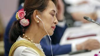 Ordnete eine Internet-Blockade in Myanmar an: die Regierung von Friedensnobelpreisträgerin Aung San Suu Kyi. (Archivbild)