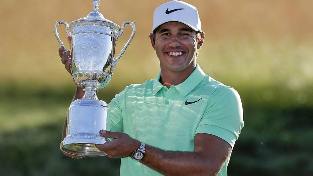 Brooks Koepka - der strahlende Sieger des US Open