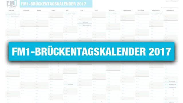 FM1-Brückentagskalender 2017