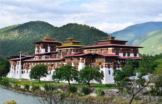 Der alte Dzong von Punakha.