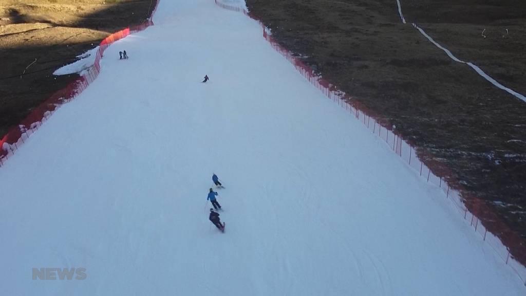 Schnee von gestern: In Adelboden trainiert Ski-Nachwuchs auf letztjährigem Schnee