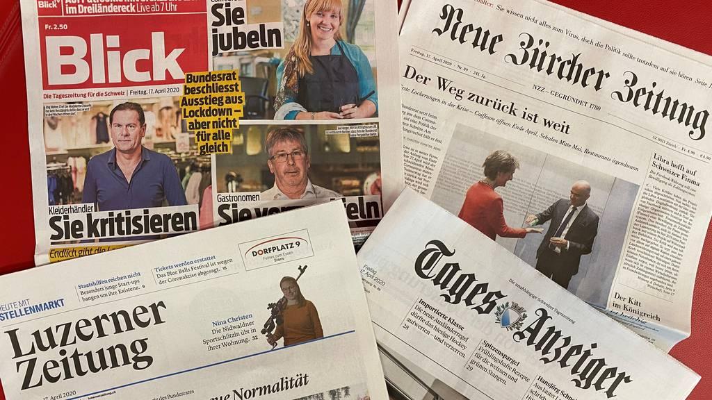 Reaktionen der Medien auf die Strategie des Bundesrates