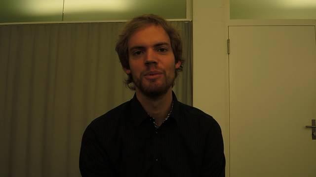 Pascal Etzensperger  erklärt was ein Kurator am Fantoche macht